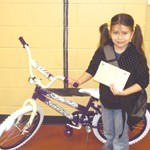 This six weeks Alondra Torres, a second grader, won the bicycle.