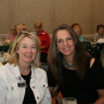 Jill Berney (left) and Kim Brown of LRMC attend volunteer luncheon