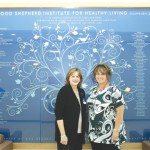 Gina Terry and Laura McCarter, Health and Prevention Services Executive Director, of the Healthy Institute