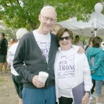 Jack and Nelda Strong at the recent 'Walk to end Alhzeimer's' event.