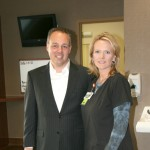 LRMC CEO Jim Kendrick  and Virginia Hardaway, RN, MSN  standing in one of the rooms