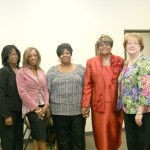 Susan Williams, Dominique Mapps, Glenda Pierce, Glenda Shead and Dorrie Deland