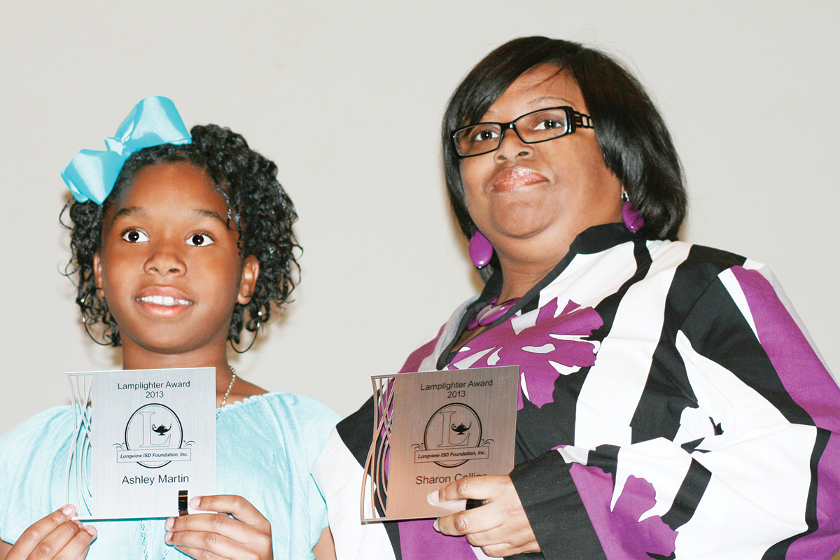 sharon collins honored by ashley martin-ned e williams elementary