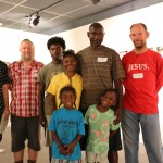 Anup Bhandari, Sean Scott, The Thorn Family: Gabriel, Jametria, Lashuna, Terry and Keith;  and Carl Darnell Sr.